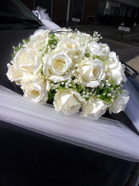 Hochzeit Auto Dekoration Herz Aus Rosen Etsy
