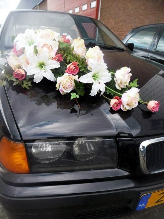 Hochzeit Auto Dekoration Lange Strauss Rosen Lilien Reben Etsy