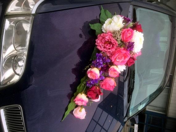 Super Lang boeket bruiloft auto decoratie rozen pioenrozen Fresias | Etsy QZ-19