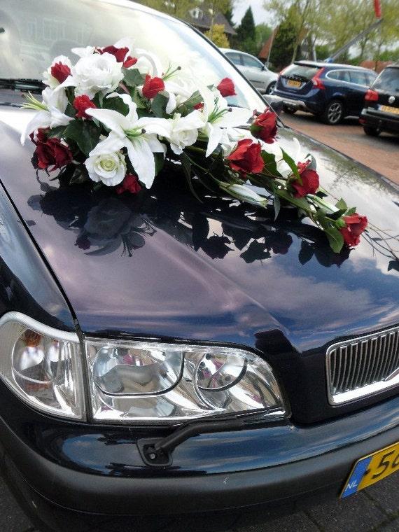Longue Soie Composition Florale Decoration Mariage Voiture Etsy