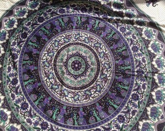 Mandala single bed cover/throw/wall/India/cotton/IN 2 COLORS