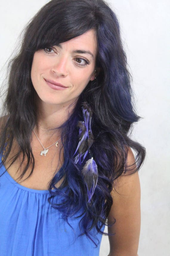 Purple Feather Hair Extension Lavender Feather Extension Clip In Hair Feathers