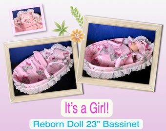 separation shoes 34c2c 5e3d1 Reborn Doll Bassinet Set-  It s a Girl!