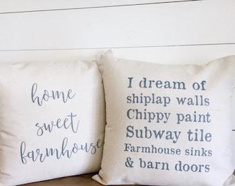 Pillow Covers, Decorative Pillows, Designer Pillow, Throw Pillow, Quote Pillow, Custom Phrase,Farmhouse Pillow, Shiplap