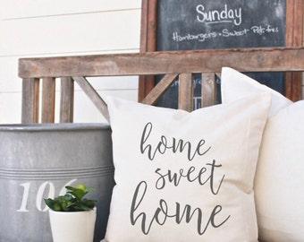 Home Sweet Home Pillow | Farmhouse Pillow | Canvas Pillow | Throw Pillow | Decorative Pillow