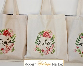 Bridesmaid Bags, Bridesmaid Tote Bags,Bridesmaid Bag,Wedding Tote Bags, Bridal Party Gifts,Bride,Wedding Gift, by Modern Vintage Market