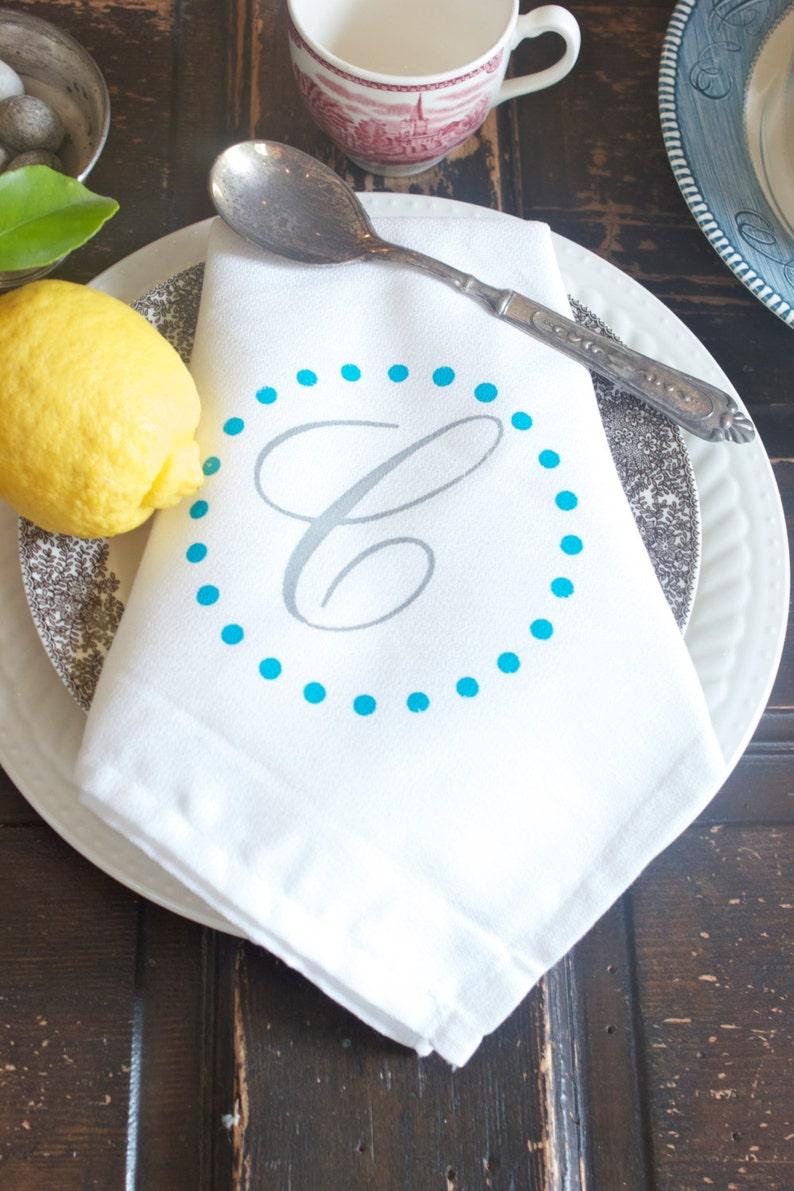 Custom set of 4 Dinner Napkins Monogrammed napkins Personalized cloth napkins by Modern Vintage Market