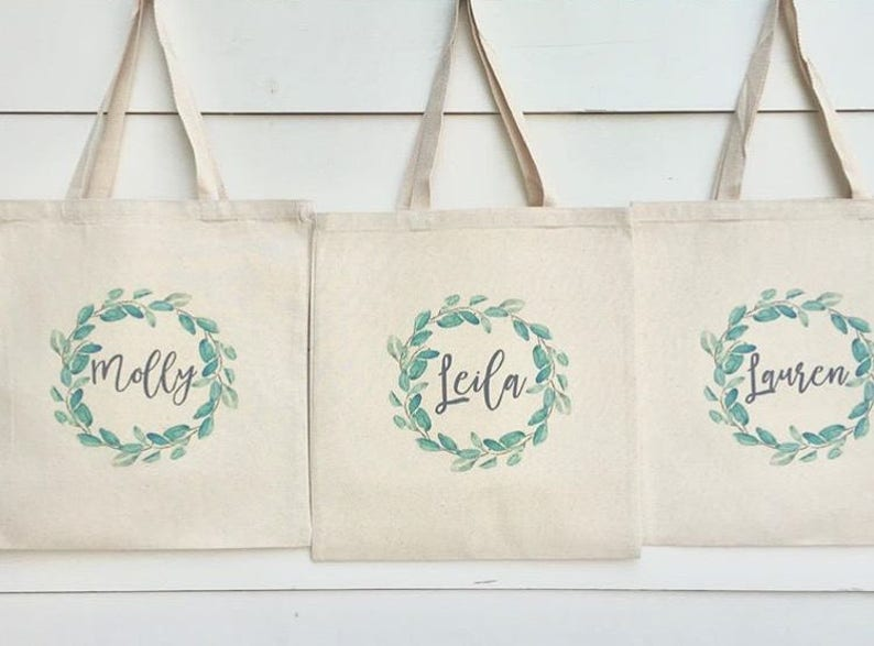Bridesmaid Bags Bridesmaid Tote BagsBridesmaid BagWedding image 0