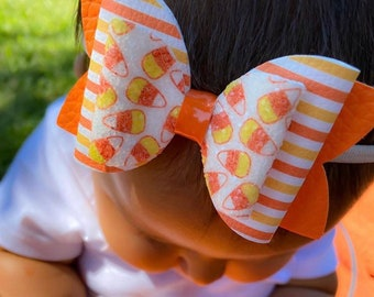 Candy corn hair clip feltie no slip grip hair barrette felt candy corn toddler clip girl clip fall clip