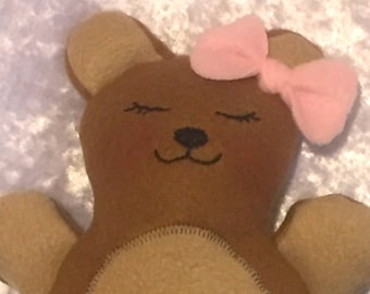 Baby Toy~Handmade Teddy Bear~Soft Plush Handmade Toy~Stuffed Cloth Bear~Handmade Baby Toy~Plush Teddy Bear~Stuffed Toy Bear~Handmade in USA