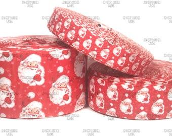 "/""I/'m on the Nice List/"" Christmas grosgrain ribbon 22mm Cartoon ribbon Hairbows"