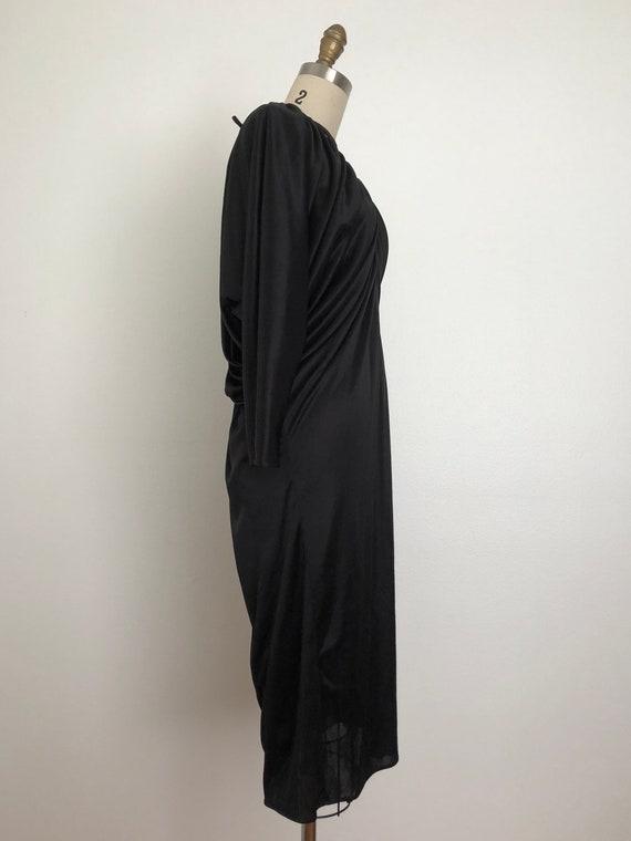 Vintage Pantera Black Dress | Vintage Disco Dress - image 8