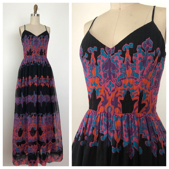 1960s Pauline Trigere Maxi Dress - image 1