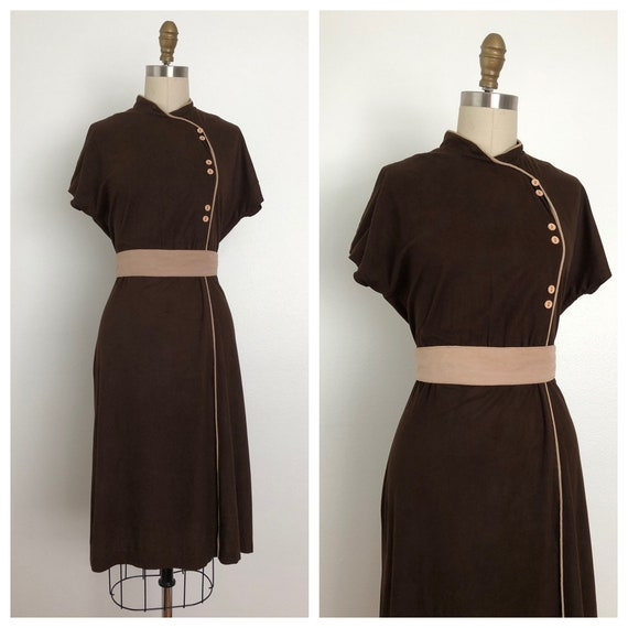 1970s Mrs. Wong  Dress | Vintage oriental dress