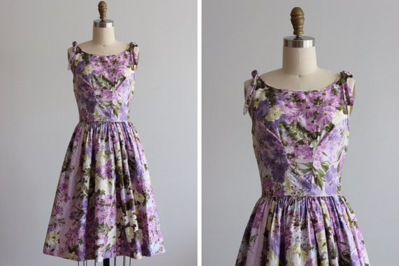 1950s Lilac Valley Dress