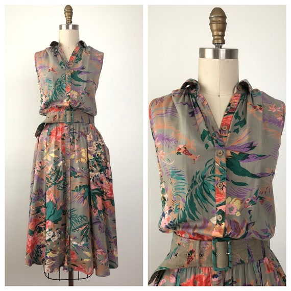 Vintage Pura Vida Floral Dress
