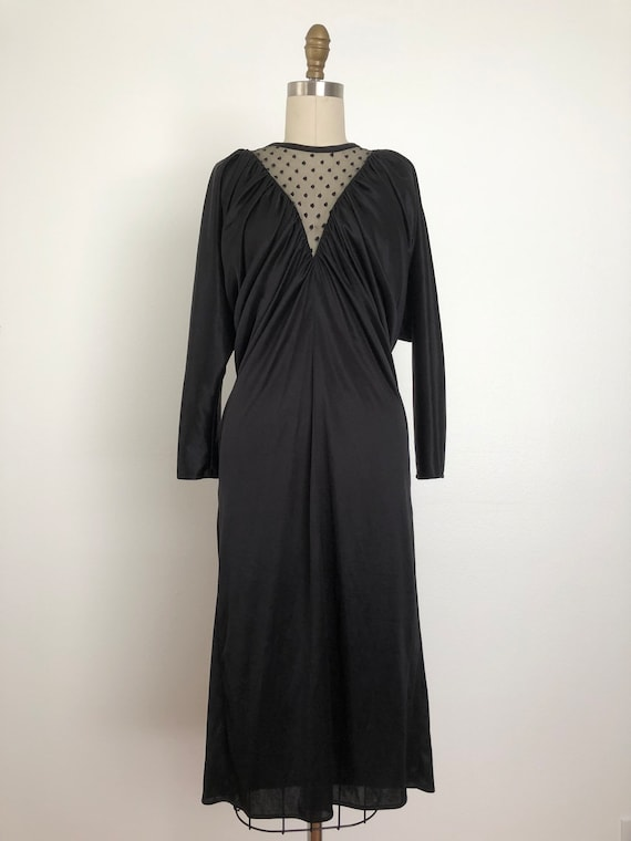 Vintage Pantera Black Dress | Vintage Disco Dress - image 6