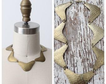 Vintage Culebrina Brass Necklace