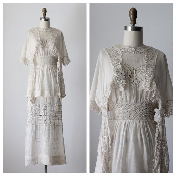 1910 Edwardian Secret Lace Dress