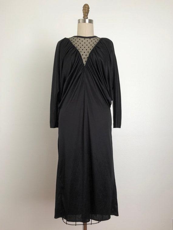 Vintage Pantera Black Dress | Vintage Disco Dress - image 2