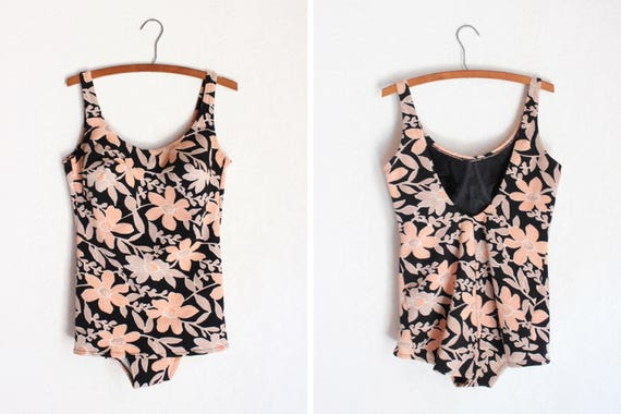 1960s Sophia Floral Swimsuit