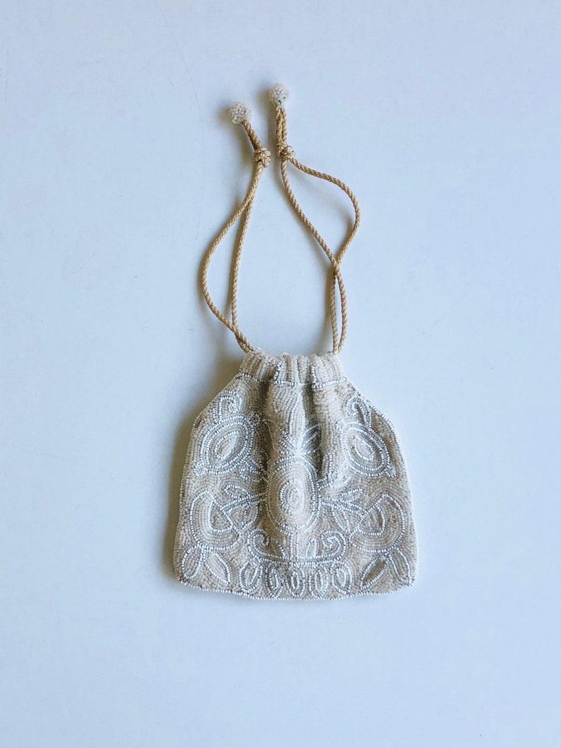 Antique Pouch 1930s Art-Deco Beaded Bag