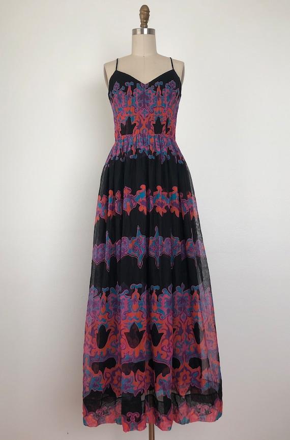 1960s Pauline Trigere Maxi Dress - image 5