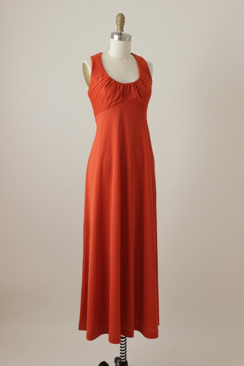 1970/'s Siena On Fire Maxi Dress
