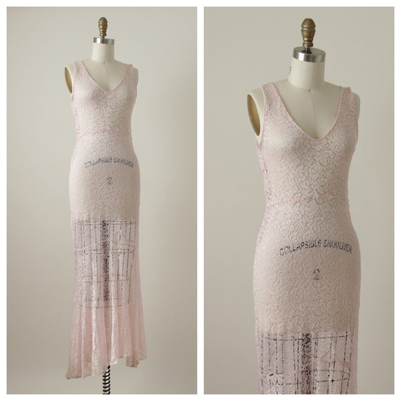 1930s English Roses Bias-cut Dress