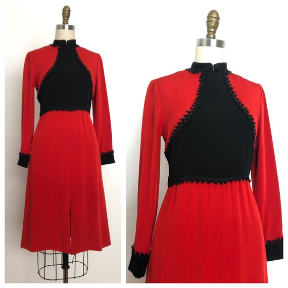 1960s Mollie Parnis Red Dress