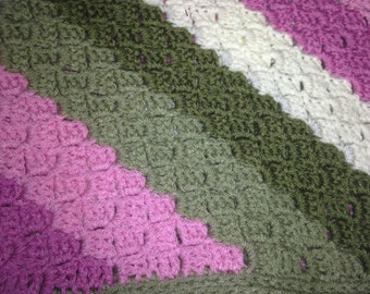 Baby Afghan Rose/Green