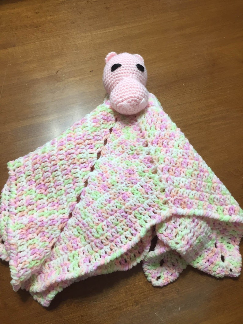 Baby Hippo Pink Lovey image 0