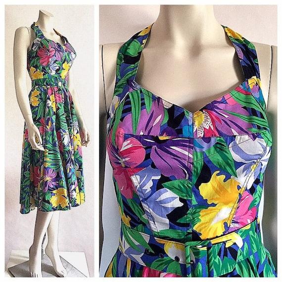 vintage Rhonda Harness Hawaiian tropical floral su