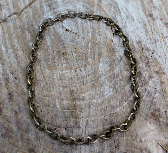 Vintage Brass Link Chain Necklace