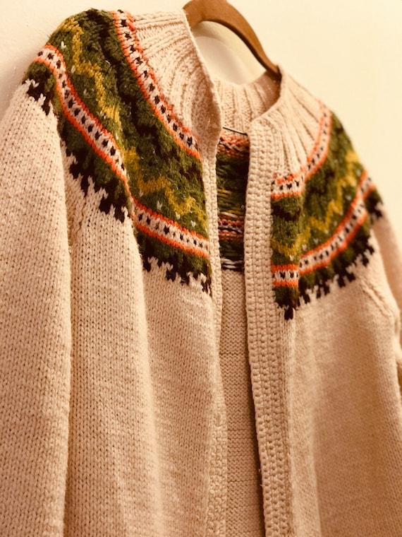 Handmade Vintage Folk Knit Wool Sweater