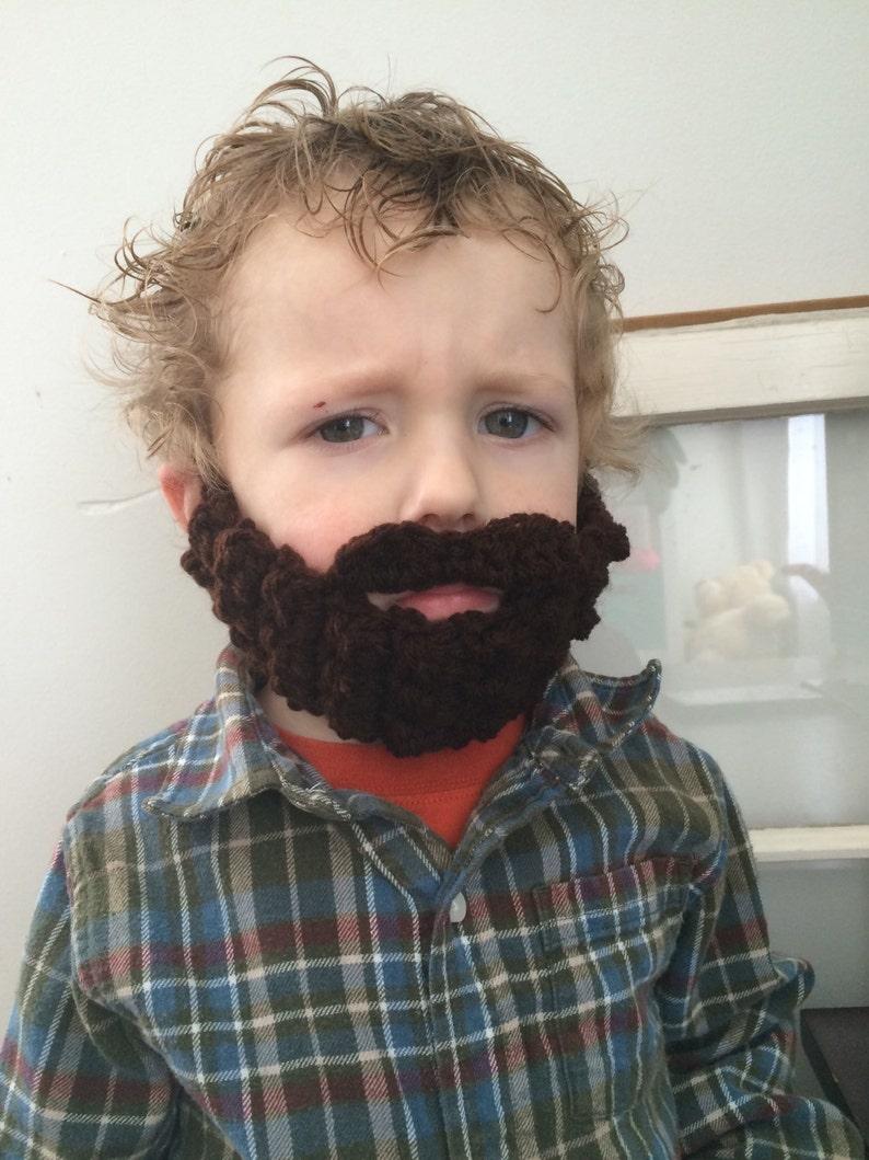 Face Warmer Stocking Stuffer Handmade Crocheted Beard Toddler Beard Funny Gift