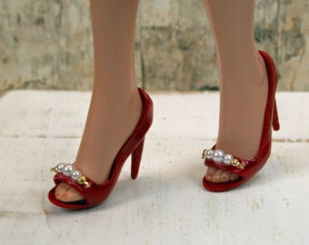 692262d10f98 Ellowyne Red Heels with Pearls