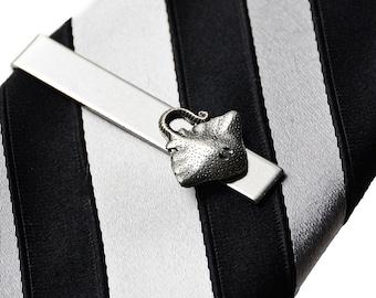 Small Pewter Bat Square Tie Clip