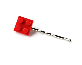 r Humorous Red Lego Bobby Hair Pin Beautiful And Charming
