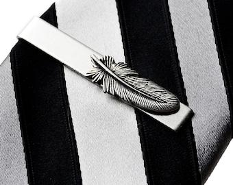 Feather Tie Clip