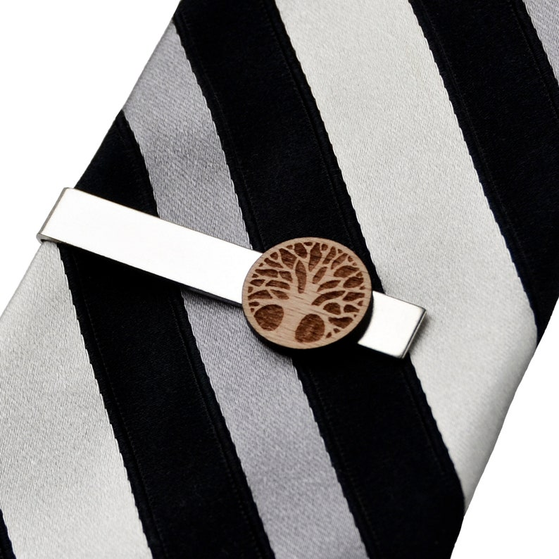 On Sale Tree Wood Tie Clip Huge Selection