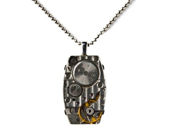 Steampunk Pendant Necklace with Adjustable Chain