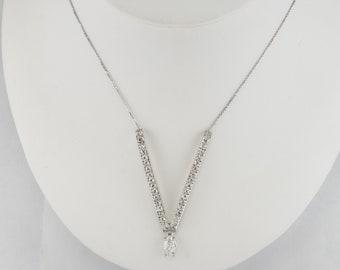 0266c1e8e9e00 Natural Diamond V Necklace