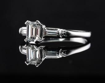 Diamond Ring, 14K Gold Band, Wedding Engagement