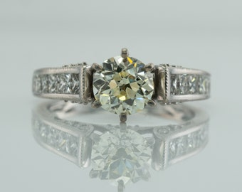 Diamond Ring, Vintage 14K Gold, Engagement Wedding