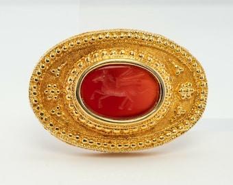Pegasus Cameo Pendant, Ancient Greek Mythology 18K Gold