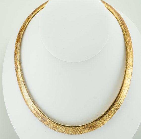Egyptian Style Snake Necklace Choker, Vintage 14K