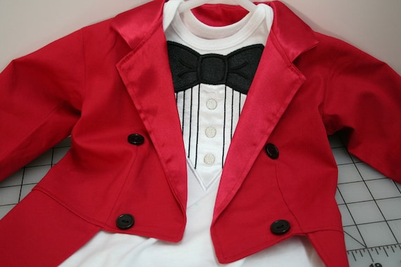 New Year/'s Christmas Circus Ringmaster Tuxedo Jacket with Tails Circus Ringmaster Birthday Photo Prop Wedding Fully Lined in Satin