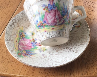 H&k tunstall cup and saucer