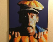 Ernest Scared Stupid portrait made from thousands of beads